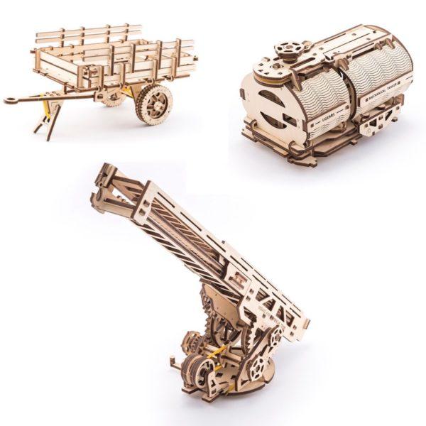 Ensemble d'éléments complémentaires pour le camion
